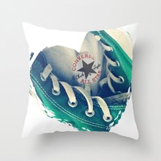 Converse Love in White Throw Pillow