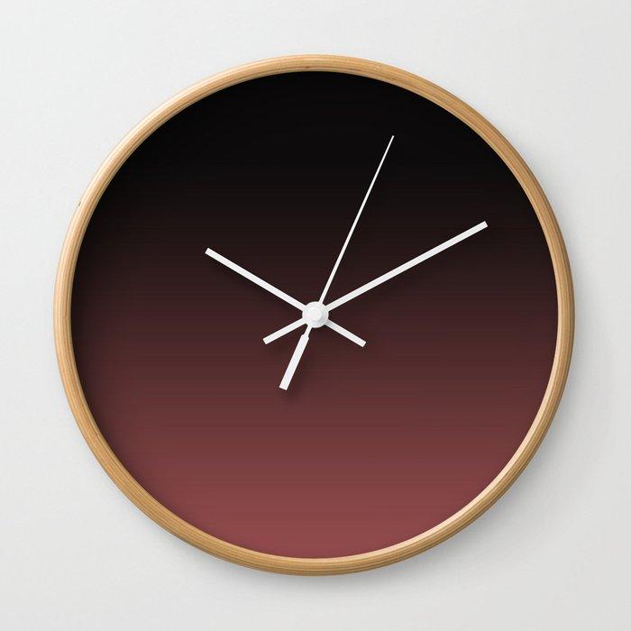 Marsala Ombre Wall Clock