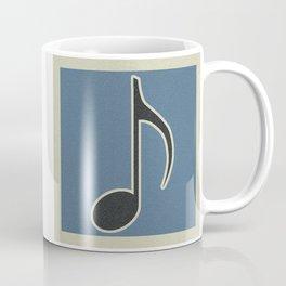 Eighth Note Blue Coffee Mug