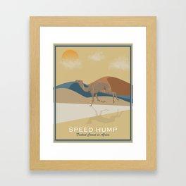 Speed Hump - Fastest Camel in Africa Framed Art Print