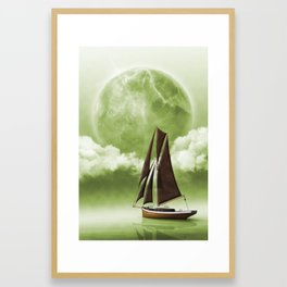 On foreign seas - Sailing seven seas Framed Art Print