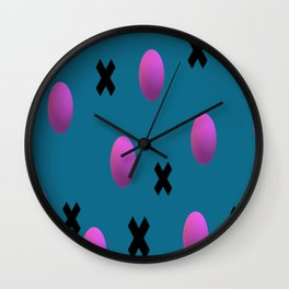 Exes and Spheres Wall Clock