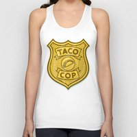taco Tank Tops featuring Taco Cop by Josh LaFayette