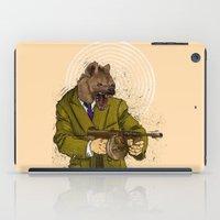 gangster iPad Cases featuring Gangster Hyena by Ichorteeth