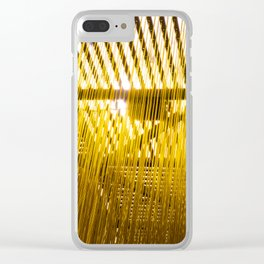 Yellow Hair Clear iPhone Case
