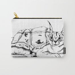 Chimera: Galapagos tortoise and Caracal Carry-All Pouch