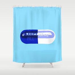 Sleepy Pill Shower Curtain