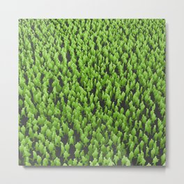 Like Blades of Grass / Large crowd of people illustration Metal Print