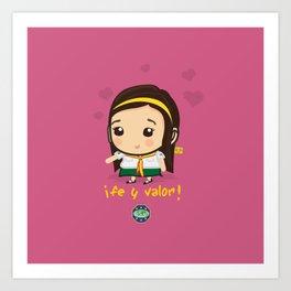 Cute Girl Master Guide Art Print