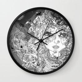 Rose's Secret * B&W Wall Clock