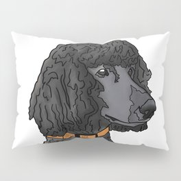 Misza the Black Standard Poodle Pillow Sham
