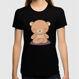 Kawaii Cute Yoga Bear T-shirt