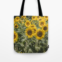 Sunflower Field | Floral Photography | Yellow Tote Bag
