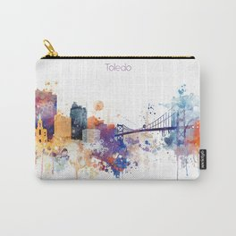 Colorful Toledo watercolor design Carry-All Pouch