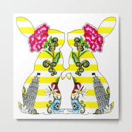 Viva Italia Bunnies Metal Print