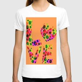 Orange love circles T-shirt