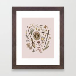 Gryffindor, Courageous and Brave! Framed Art Print
