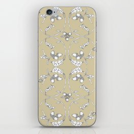 Acorns and ladybugs yellow pattern iPhone Skin
