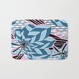 BAYAMO: BOLERO BLUES, Art Deco Tropical Bath Mat
