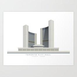 Toronto City Hall | Icon-O-Tecture Art Print