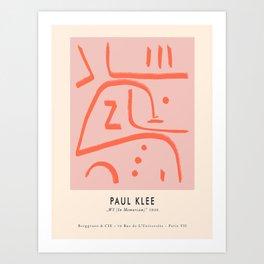Modern poster Paul Klee - In Memoriam, 1938. Art Print