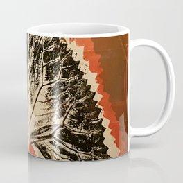 Leaf mono-print Coffee Mug