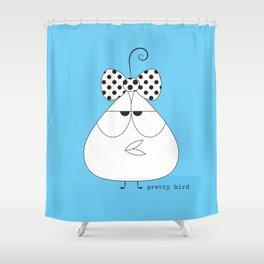 Frank Bird (with bow) Shower Curtain