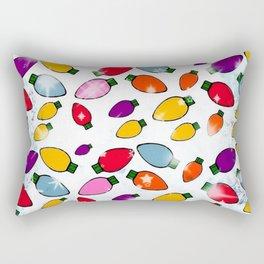 Christmas Bulb Popart by Nico Bielow Rectangular Pillow