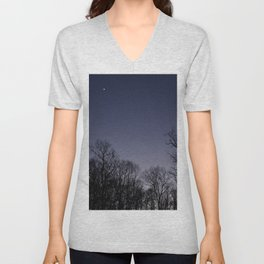 faded sunset in the mountains Unisex V-Neck