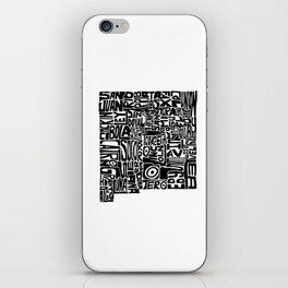 Typographic New Mexico iPhone Skin