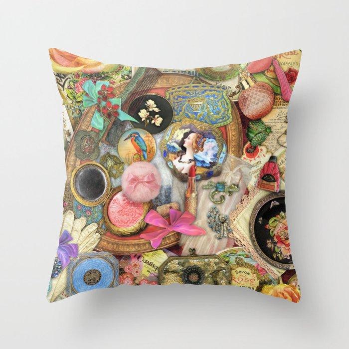Vintage Vanity Throw Pillow