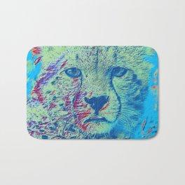 Cheetah colorful version Bath Mat