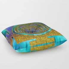 Yantra Mantra Mandala #1 Floor Pillow