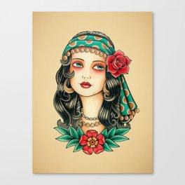 Gipsy tattoo Canvas Print