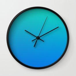 SECRET SEA - Minimal Plain Soft Mood Color Blend Prints Wall Clock