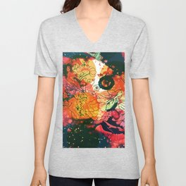 Vintage Pop Abstract Chinese Pattern Unisex V-Neck