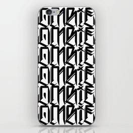 Zombies Zombies Zombies (White) iPhone Skin