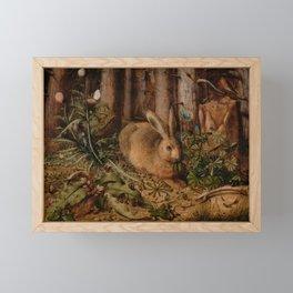 A Hare In The Forest Hans Hoffmann Framed Mini Art Print