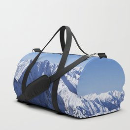 Snow Covered Mountain Duffle Bag