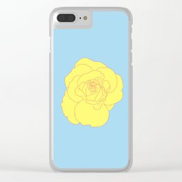 a yellow rose Clear iPhone Case