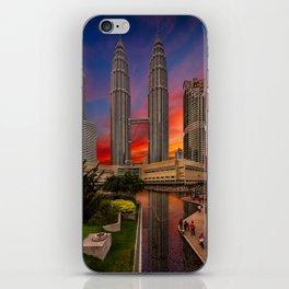 Petronas Towers Sunset iPhone Skin