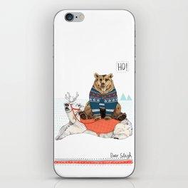 Bear Sleigh iPhone Skin