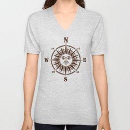 Sun Compass Unisex V-Neck