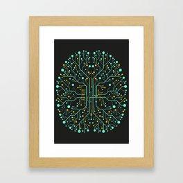 Brain Tech Framed Art Print