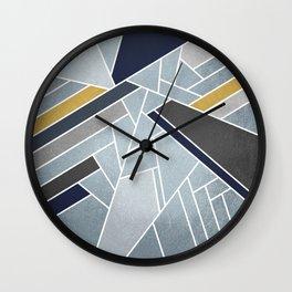 Soft Silver/Blue/Navy/Gold Wall Clock