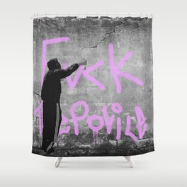 Fvck The Police Shower Curtain