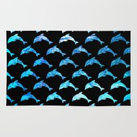 dolphins Area & Throw Rugs featuring Dolphins by The Wellington Boot