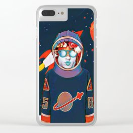 Spaceman Clear iPhone Case