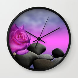 just a purple rose Wall Clock