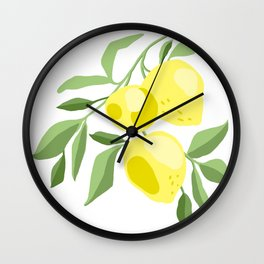 Fresh lemon Wall Clock